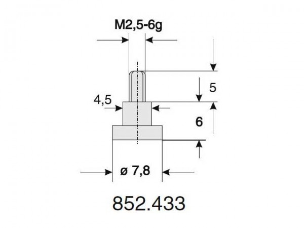 Interchangeable flat probe Ø 7,8/6