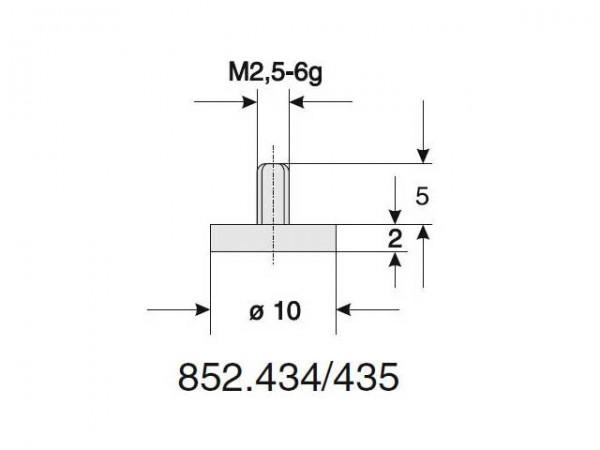 Interchangeable flat probe Ø 10,0/2