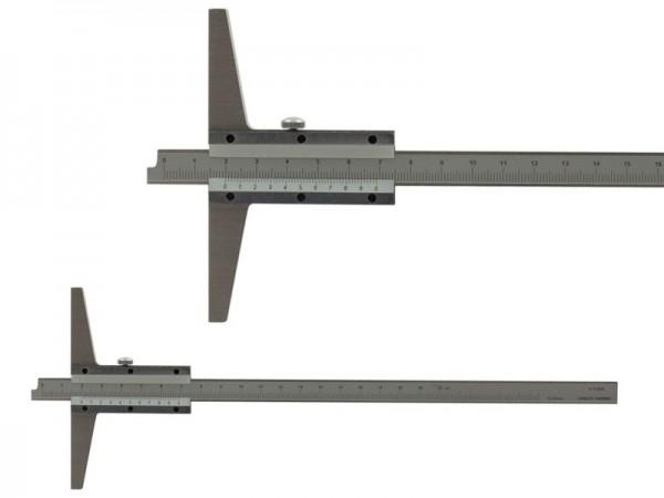 Analog depth gauge with beveled nose 0-300/100/0,02 mm