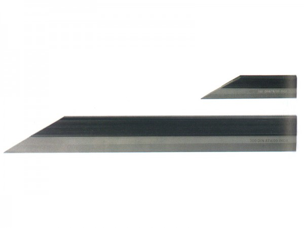 Beveled straight edges 125 mm stainless steel