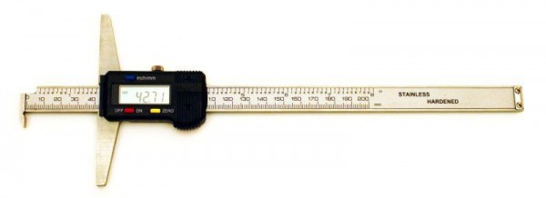 Digital depth caliper with hook 300/0,01 mm