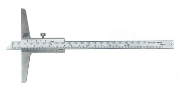 Depth gauge with beveled nose 0-200/100/0.05 mm