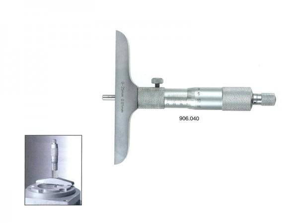 Mikrometrický hloubkoměr 0-200/101,5 mm