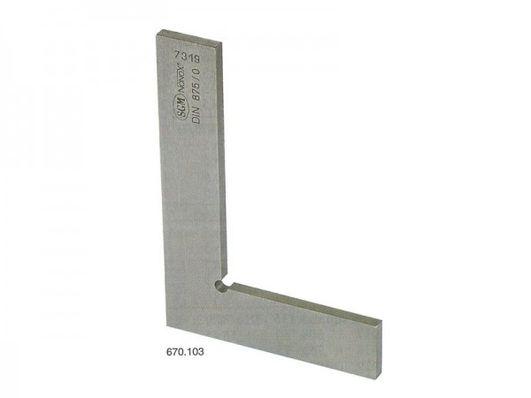 Flat stainless steel Square 75x50 mm/II