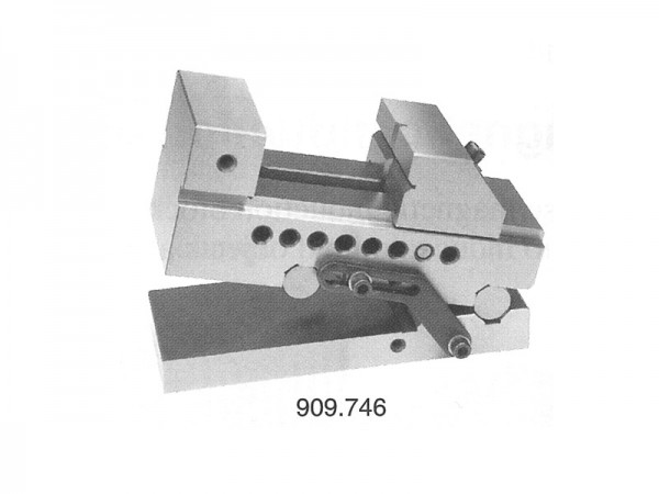 Precision sine vise with swivelling front axis 100 mm