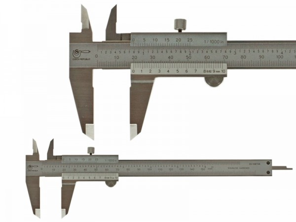 Analog Caliper SOMET 160/0,02 locking screw
