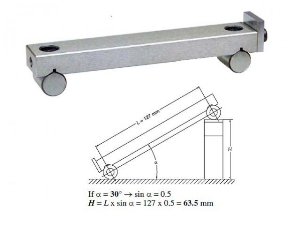 Sine bar 150x25 mm (5 µm)