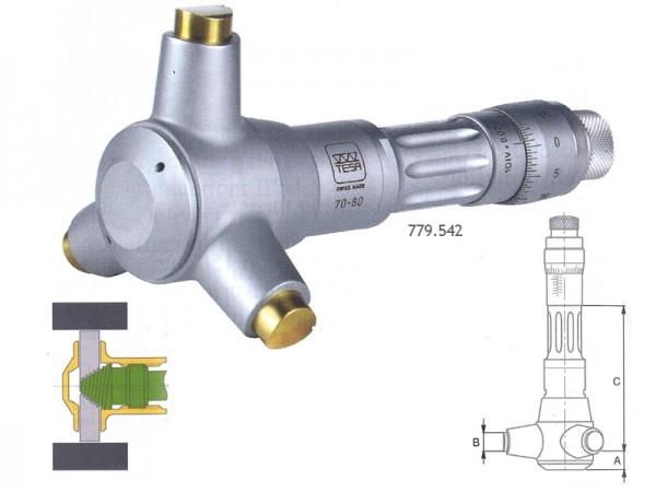 Třídotykový dutinový mikrometr TESA Imicro 4-4,5 mm