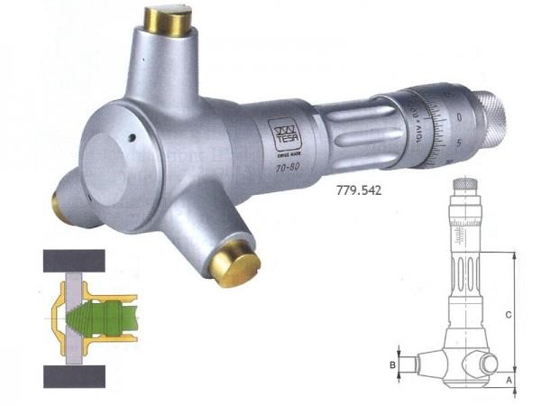 Třídotykový dutinový mikrometr TESA Imicro 4,5-5,5 mm