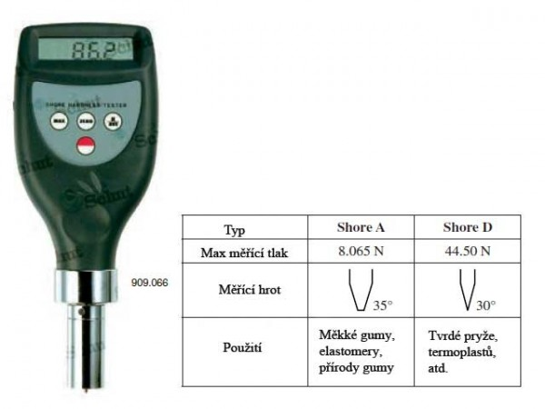 Digital portable hardness tester Shore type D