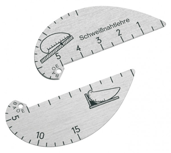 Příložná měrka svarů 0-5/2-15 mm