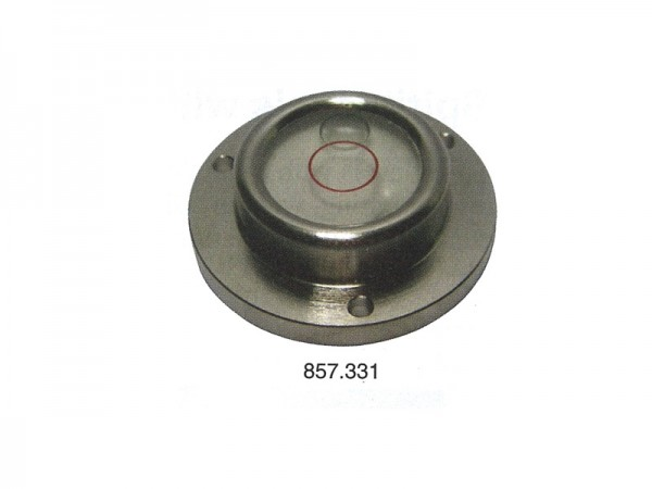 Circular spirit level Chrome casting, frame and screw holes Ø 20 mm
