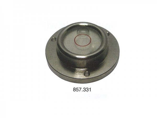 Circular spirit level Chrome casting, frame and screw holes Ø 30 mm