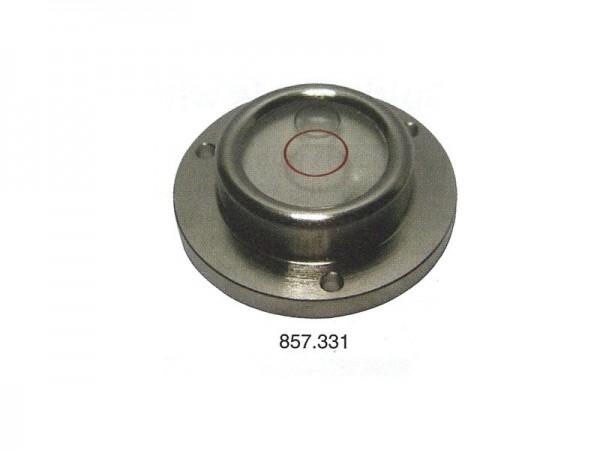 Circular spirit level Chrome casting, frame and screw holes Ø 25 mm