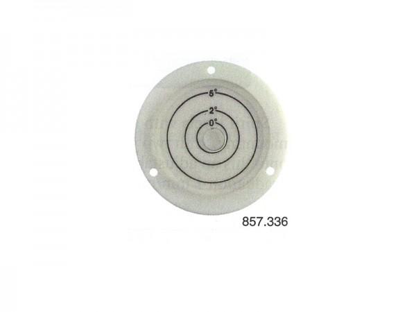 Circular spirit level White, frame and screw holes Ø 60 mm