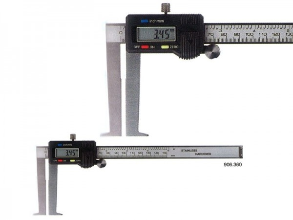 Digital caliper with outside angled measuring jaws 50-300