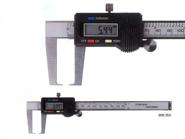 Digitální posuvné měřítko na vnější zápich 0-150