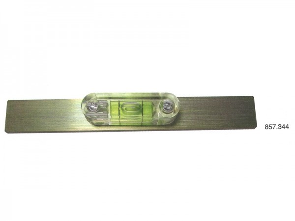 Spirit level with flat base 5 mm/m 150x20x5 mm