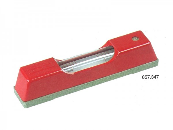 Spirit level with flat base 1 mm/m 150x20x5 mm