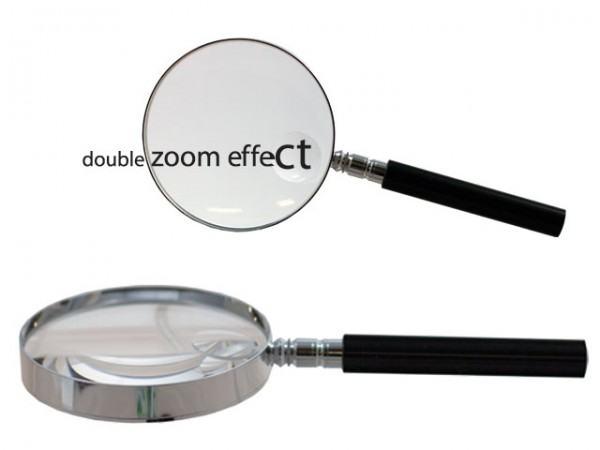 Magnifier double zoom 2,5/5x