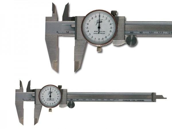 Analog Caliper with Dial Indicator 0-150/0,02 mm
