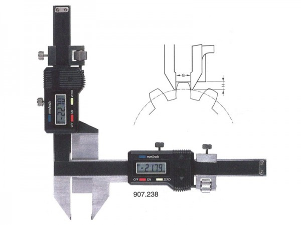 Digital gear tooth thickness caliper 1-30