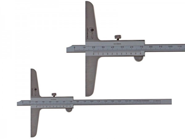 Depth Analog Caliper SOMET beveled insert 0-150/0,02