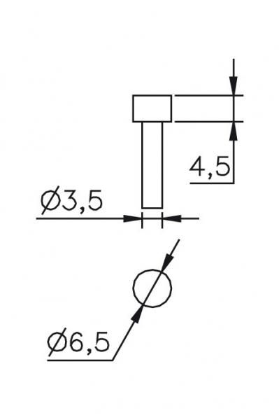 Výměnný dotek Ø 3,5/4,5/6,5mm