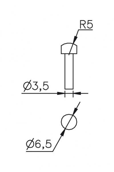Výměnný dotek Ø 3,5/6,5mm R5