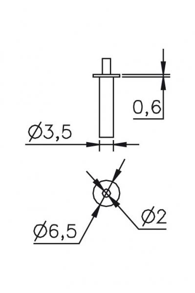 Výměnný dotek 0,6/Ø2/3,5/6,5mm