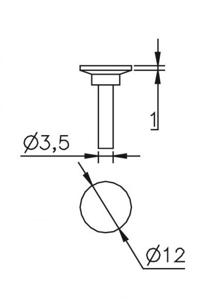Výměnný dotek Ø 3,5/12mm
