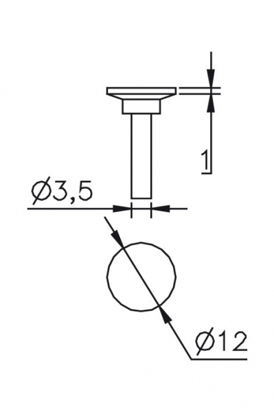 Measuring inserts Ø 3,5/12