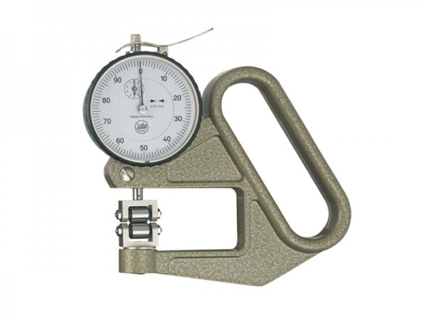 Thickness gauge with measuring rollers-disc 0-5/0,01/50