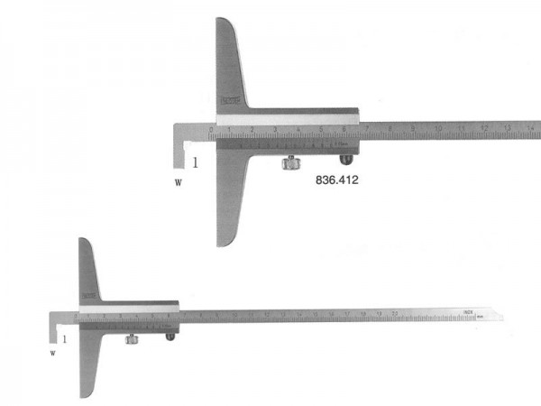 Analog depth caliper Helios-Preisser with Hook 0-1000/250/0,05 mm