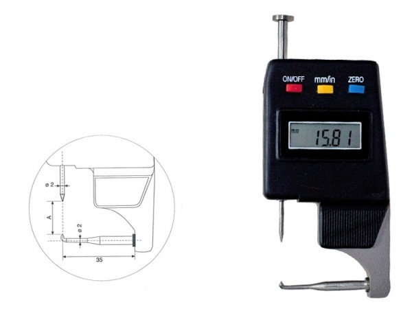 Digital Thickness gauge 0-15/0,01 mm