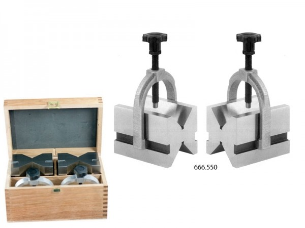 Prizmatické podložky v páru 75x55x55/5-50 mm