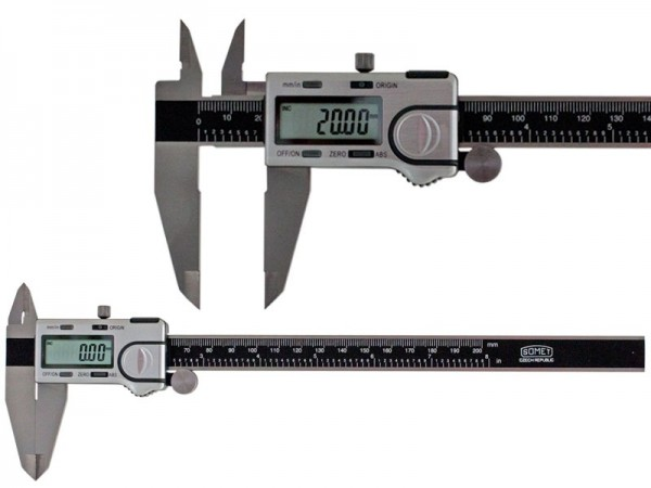 Digital Caliper SOMET 0-200/0,01 mm, ABS, IP40