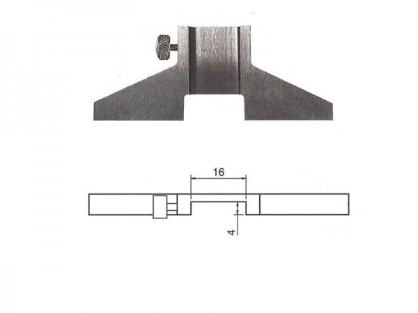 Univerzální základna pro stabilní a přesné měření hloubky 75x6 mm