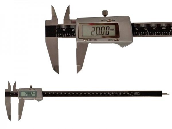 Digitální posuvné měřítko celokovové  0-300, 3 tlač. velký displej
