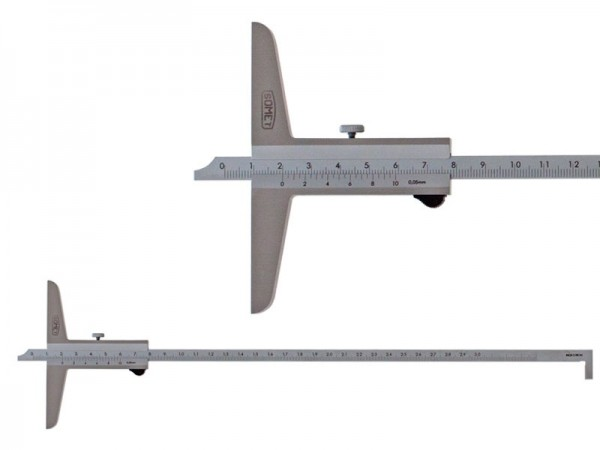 Hloubkoměr SOMET s nosem a se zkosením  0-300/0,05 mm