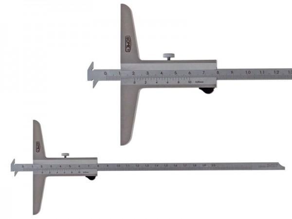 Hloubkoměr SOMET se dvěma nosy a se zkosením  0-200/0,05 mm