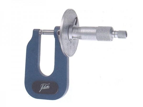Sheet metal micrometer 0-15 mm / spherical, flat faces