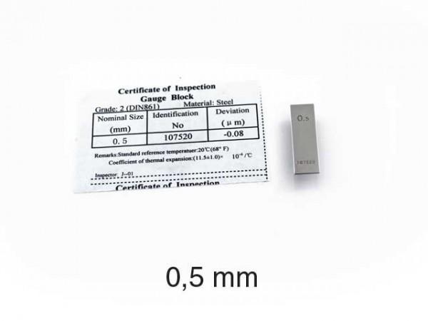 Steel gauge block 0,5 mm/1