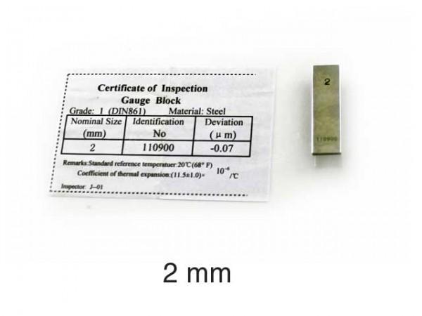 Měrka ocelová 2 mm/2