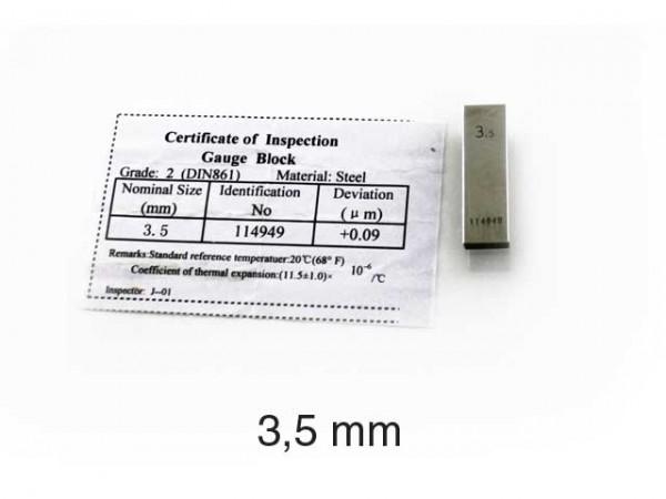 Steel gauge block 5 mm/2