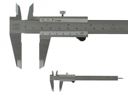 Analog Caliper SOMET 160/0,05mm, locking screw, flat depth rod