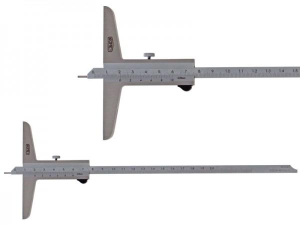 Hloubkoměr SOMET s jehlou a zkosením 0-200/0,05 mm