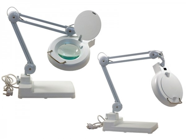 Light magnifiers with fluorescent or LED illumination, base 1,75x