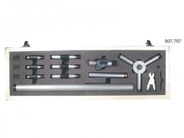 Digitální tříbodový dutinový mikrometr 200-500 mm + nástavce