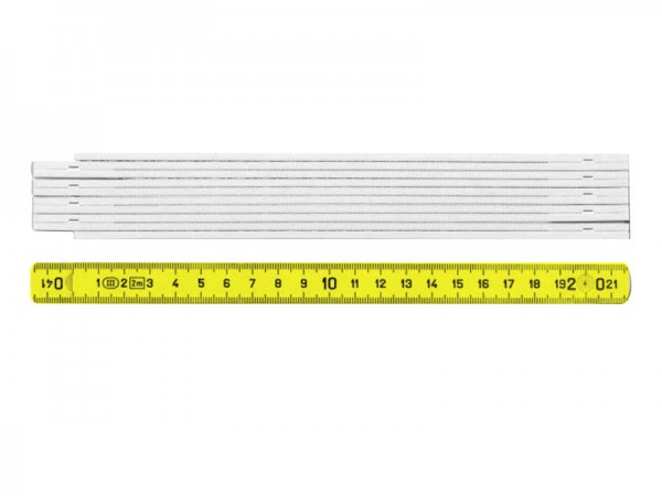 Metr skládací sklolaminát 2000 mm žlutý
